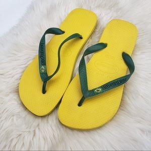 Havaianas Brasil Flag Yellow Green